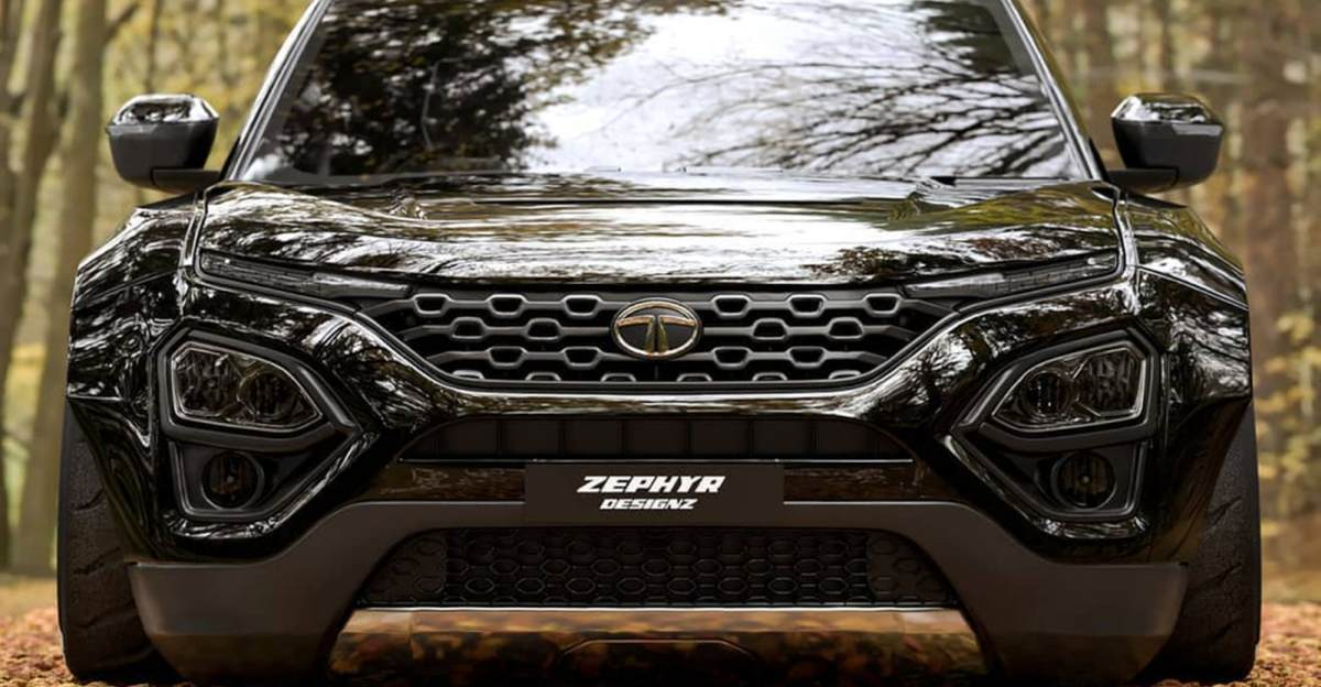 Tata Harrier low rider with a wide-body kit: What it'll look like
