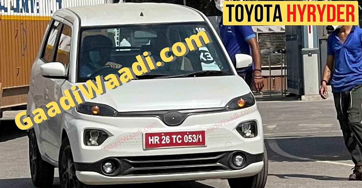Maruti WagonR EV based Toyota Hyryder electric hatchback spied