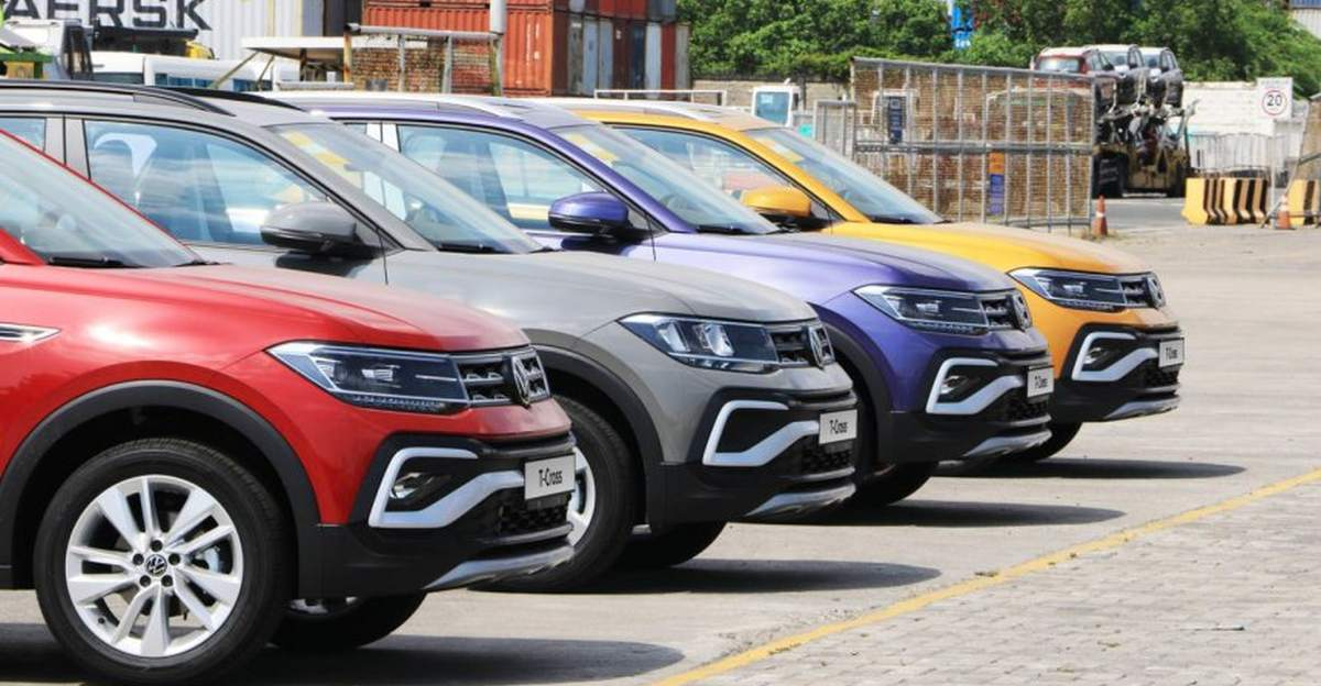 Volkswagen Taigun (T-Cross abroad) compact SUV in multiple colours