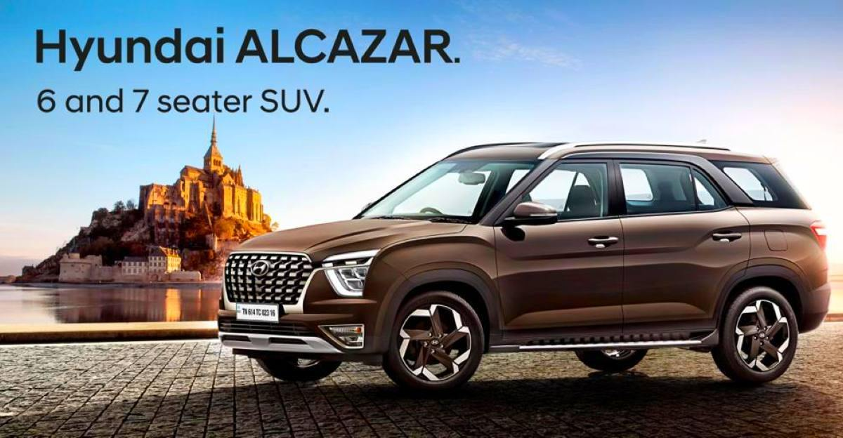 Hyundai Alcazar to be launched in six variants: Details leaked