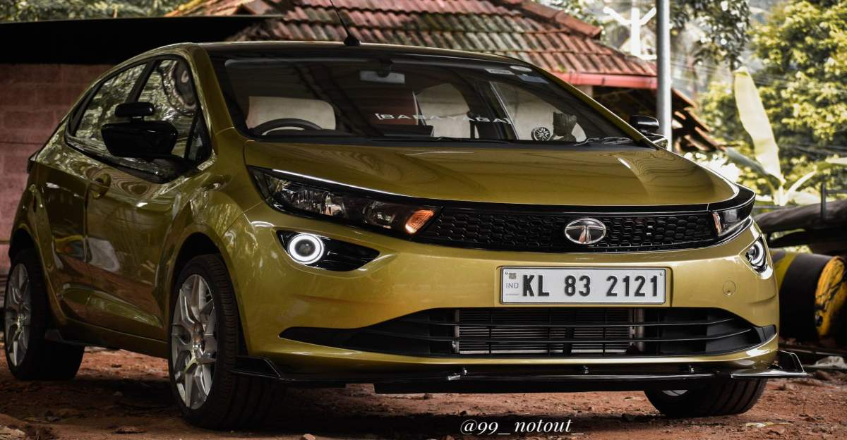 Tata Altroz modified with 17 inch alloy wheels and valvetronic exhaust looks hot