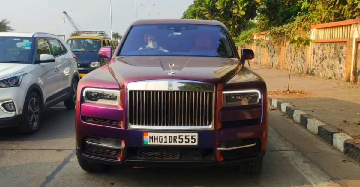 Mukesh Ambani's second Rolls Royce Cullinan gets a psychedelic wrap, just like the first one