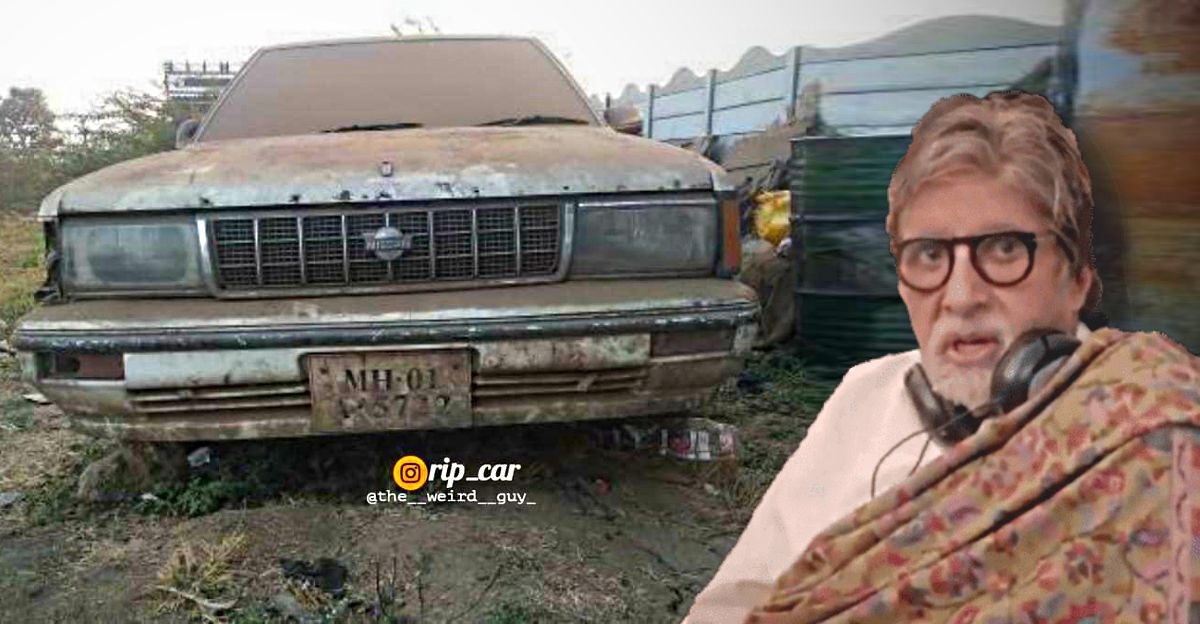 Nissan Cedric Brougham that once belonged to Amitabh Bachchan now abandoned & left to rot