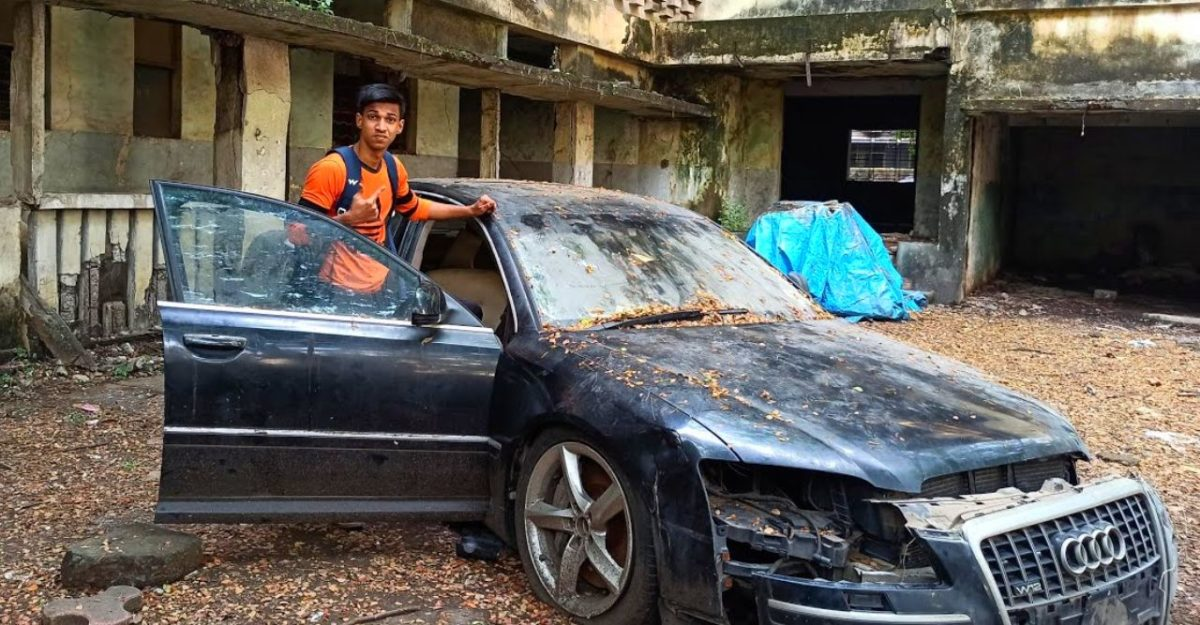 Abandoned Audi A8 L worth over 1 Cr: Explored inside-out