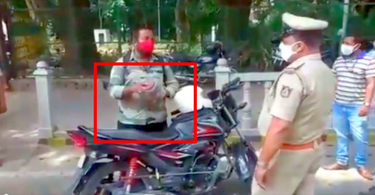 Cops stop biker for lockdown violation: Get cobra as reason [Video]