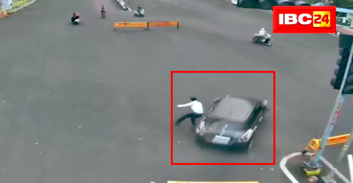 Speeding car on wrong side hits cop & flees: Manhunt launched