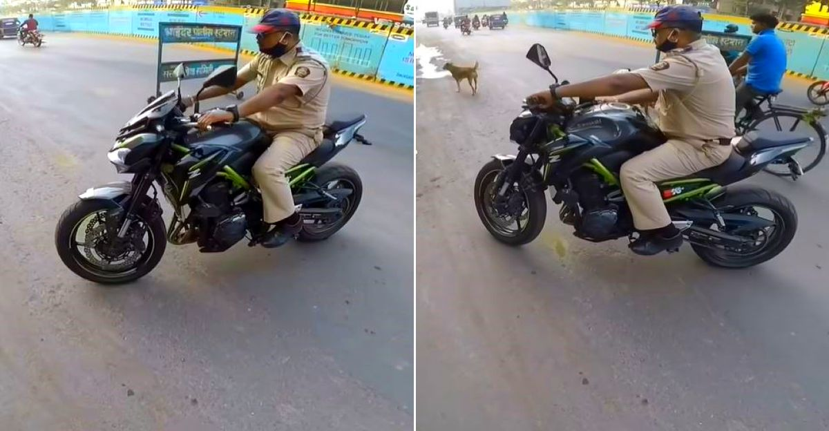 Friendly cop takes Kawasaki Z900 superbike for a spin: Comes back super impressed