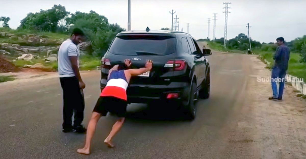 Actor's workout routine involves pushing his Ford Endeavour uphill [Video]