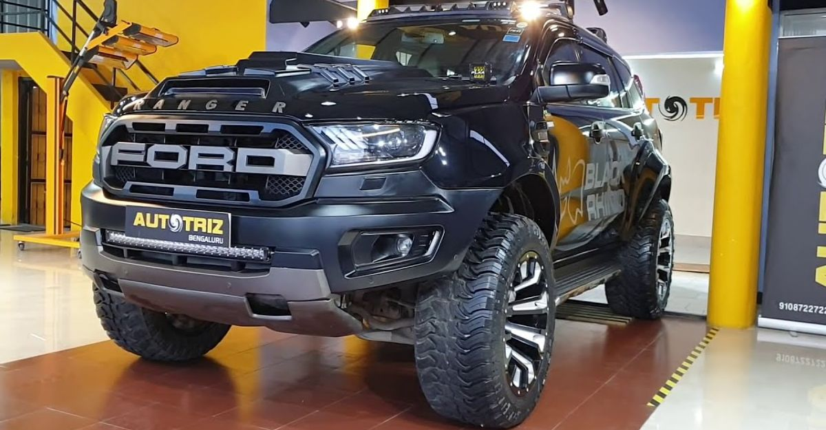 Ford Endeavour SUV with numerous modifications looks menacing