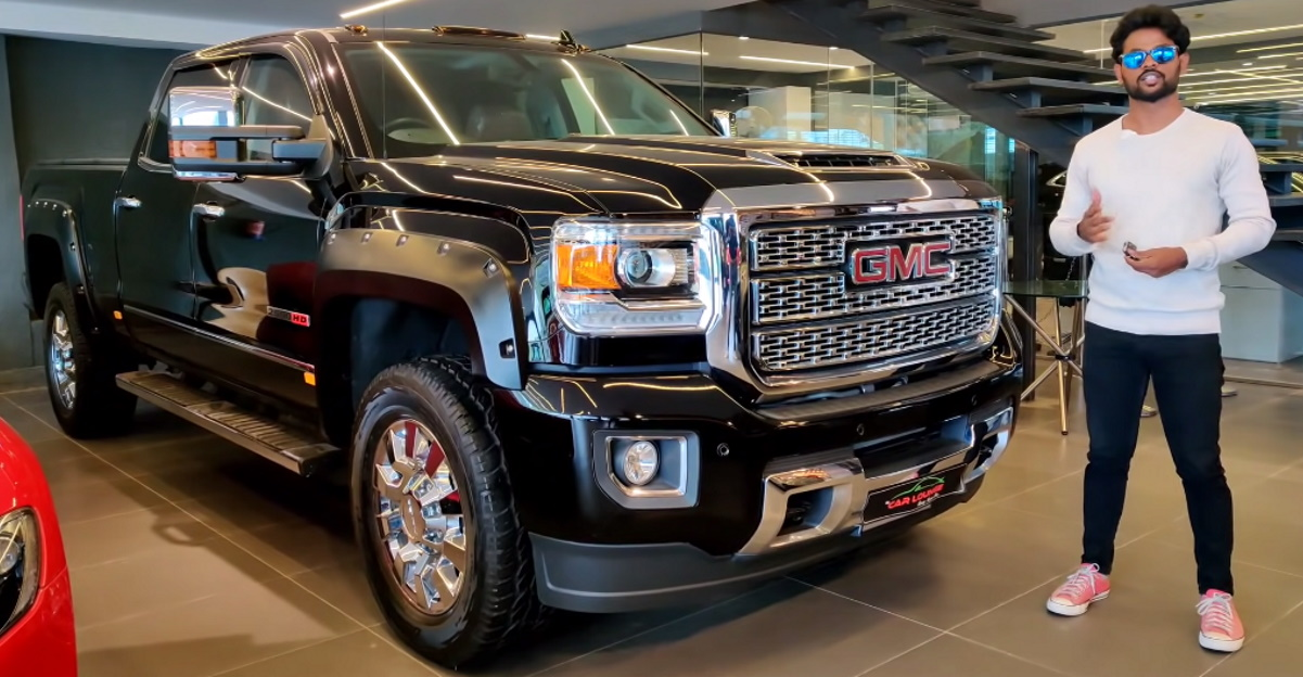 GMC Denali: Massive American pick-up truck in a detailed walkaround video right here in India