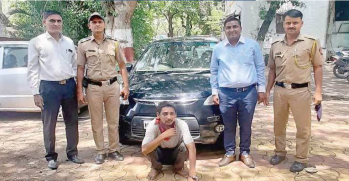 Pune Police officials nab Hyundai i10 thief in just 40 minutes thanks to GPS tracker