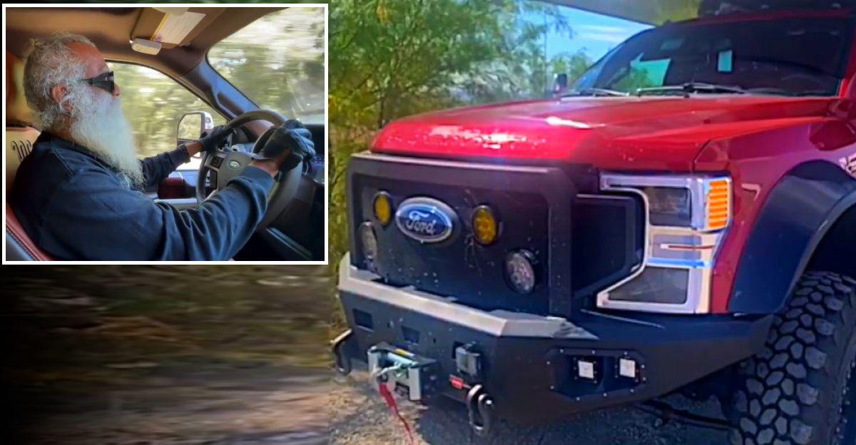 Jaggi 'Sadhguru' Vasudev's modified Ford F150 pick up truck is a BEAST