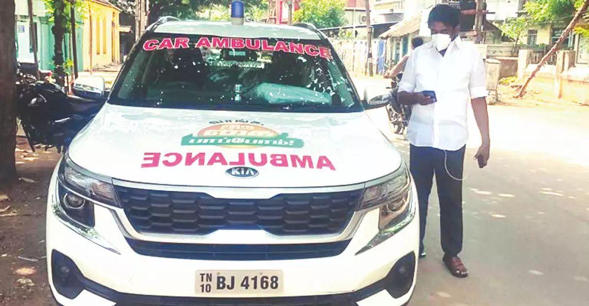Congress politician converts his Kia Seltos SUV into an ambulance