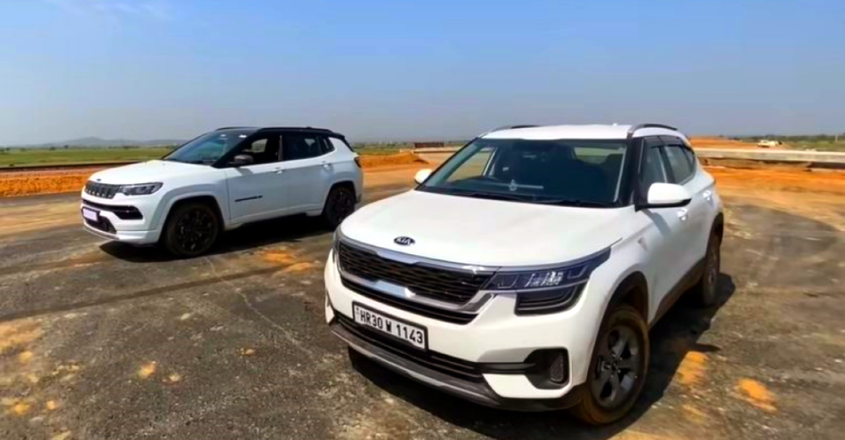 2021 Jeep Compass diesel vs Kia Seltos diesel in a drag race