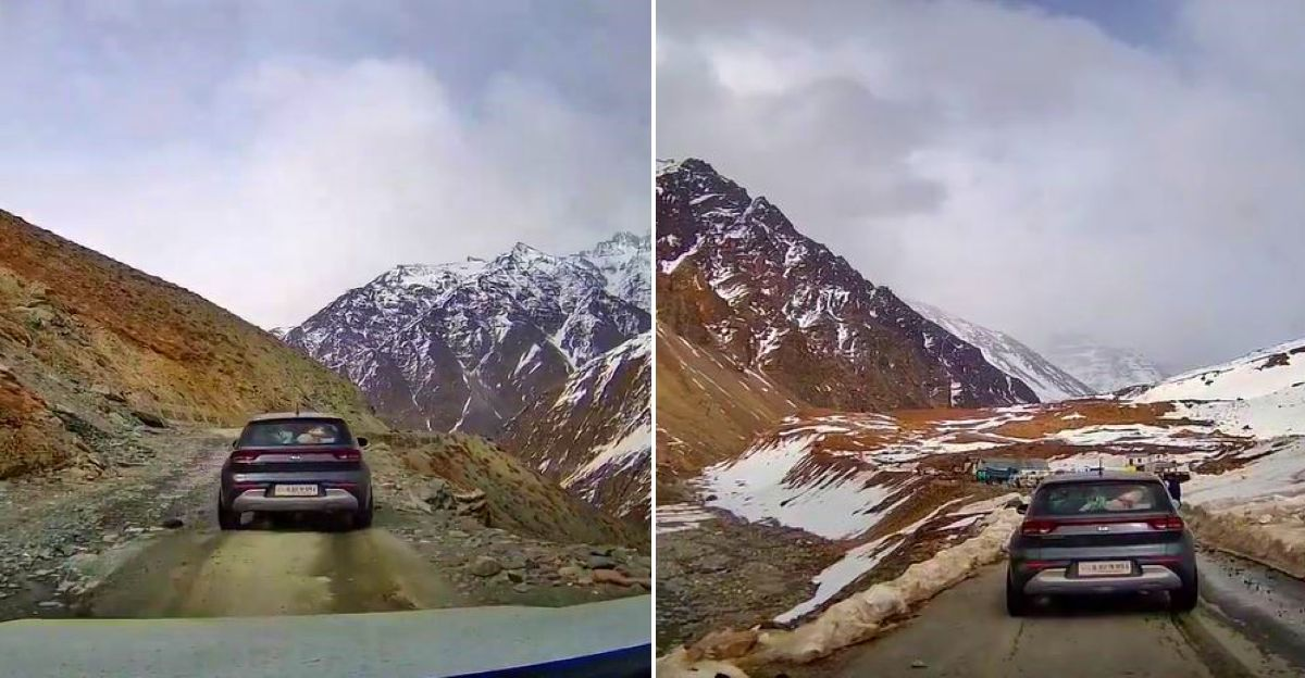 India's first Kia Sonet to reach the Baralacha La pass: This is it
