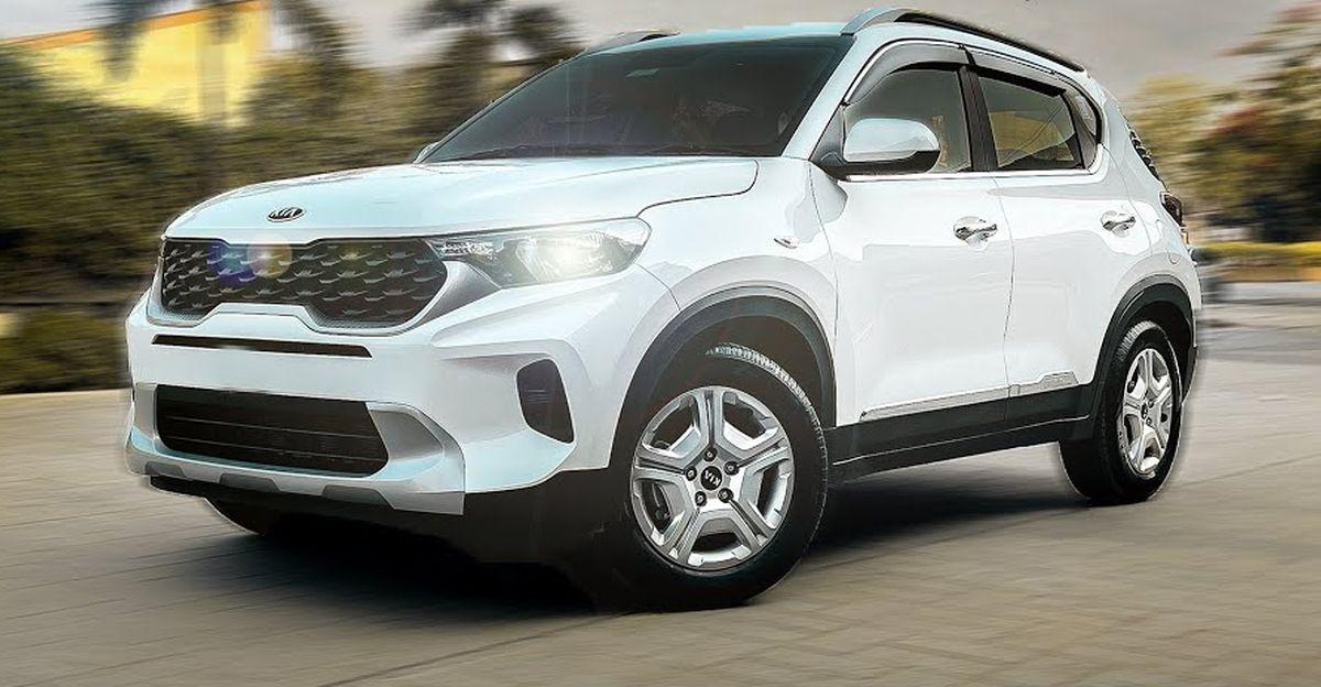 Kia Sonet compact SUV with modified interiors looks neat