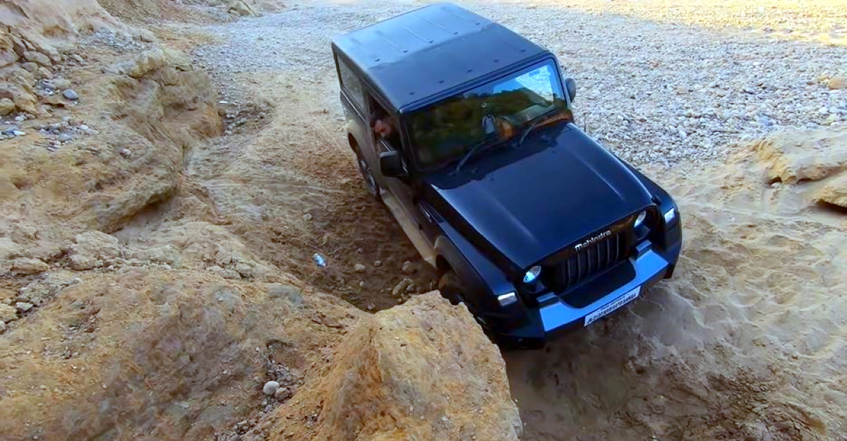 How the new Mahindra Thar's traction control pulls it out of slippery places [Video]