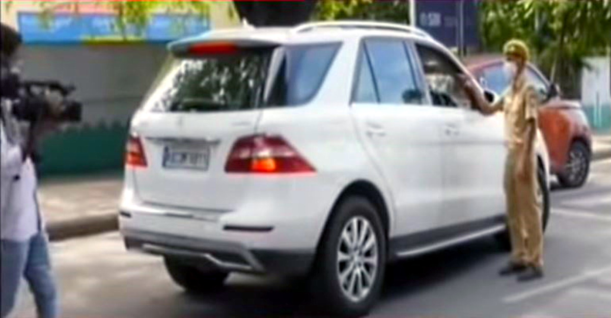 Mercedes-Benz ML-Class & C-Class luxury cars seized for breaking lockdown rules in Bangalore