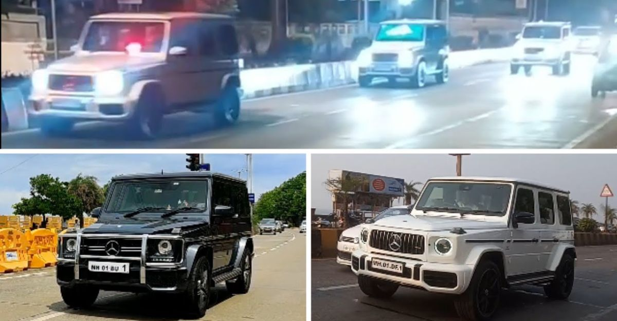 Mukesh Ambani family's collection of Mercedes-Benz G63 AMG SUVs on video