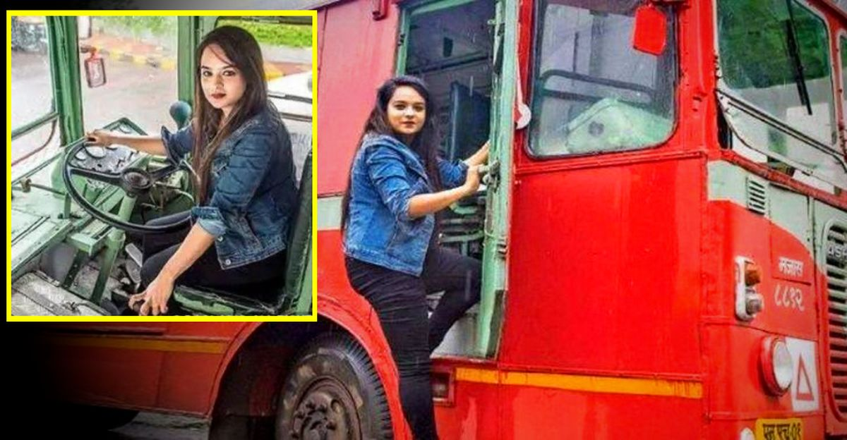 25 Year-old Mechanical Engineer Becomes Mumbai's First Woman Bus Driver!