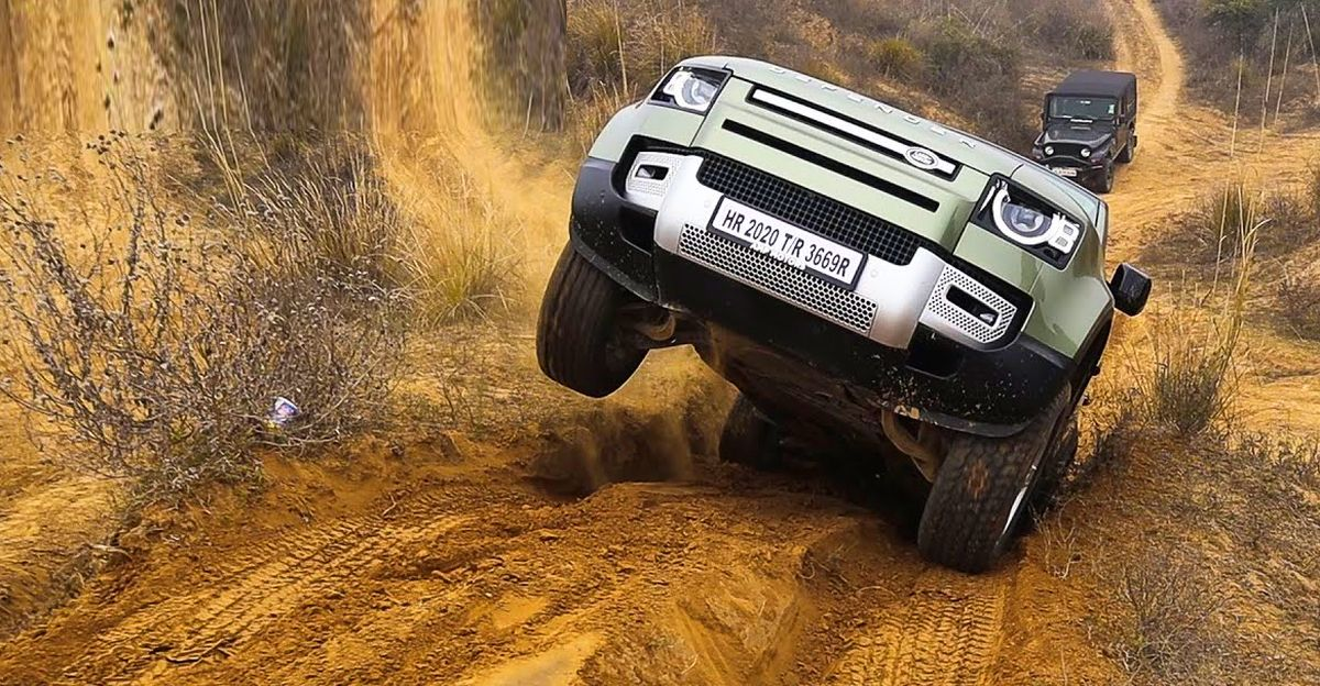 All-new Land Rover Defender off roading in India shows why it's such a legend