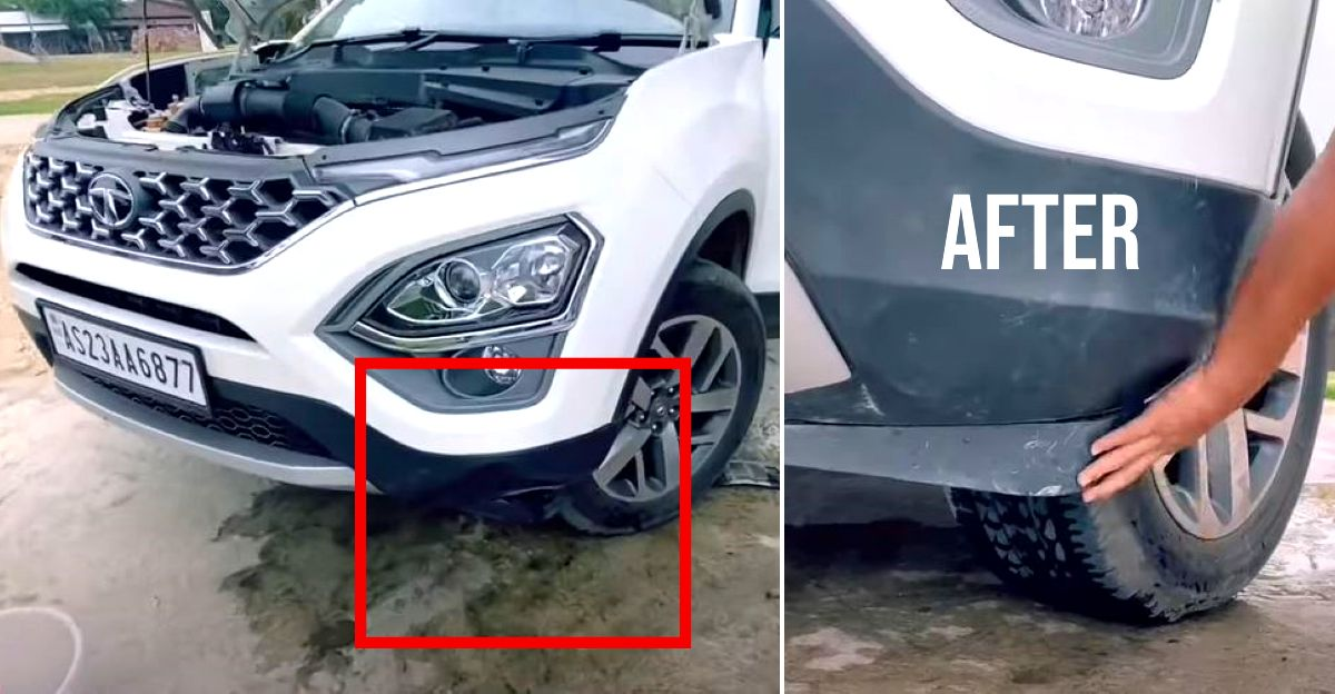New Tata Safari owner shows how to fix bumper damage at home
