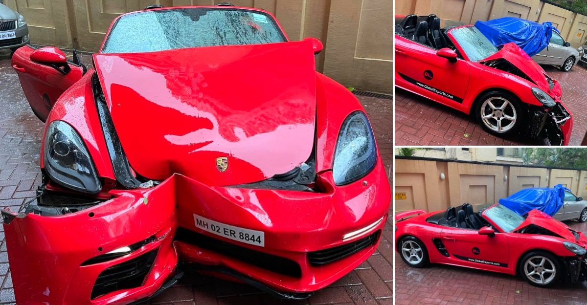 Cyclone Tauktae in Mumbai: CEO claims that his Porsche 718 Boxster was a victim
