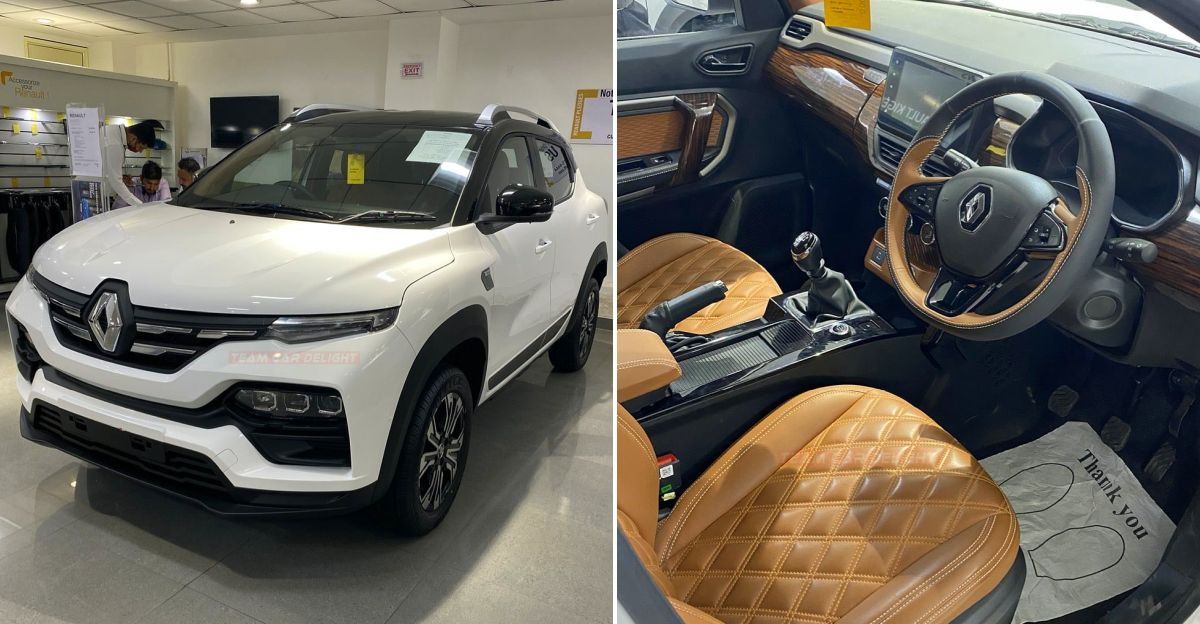 Renault Kiger customized by dealer with beige interiors: In images
