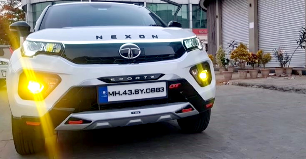 Tata Nexon XMS modified with aftermarket accessories