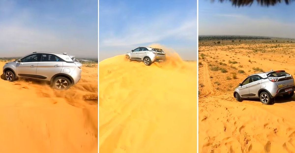 Tata Nexon goes dune bashing in a desert that leaves even a Mercedes Benz SUV stranded