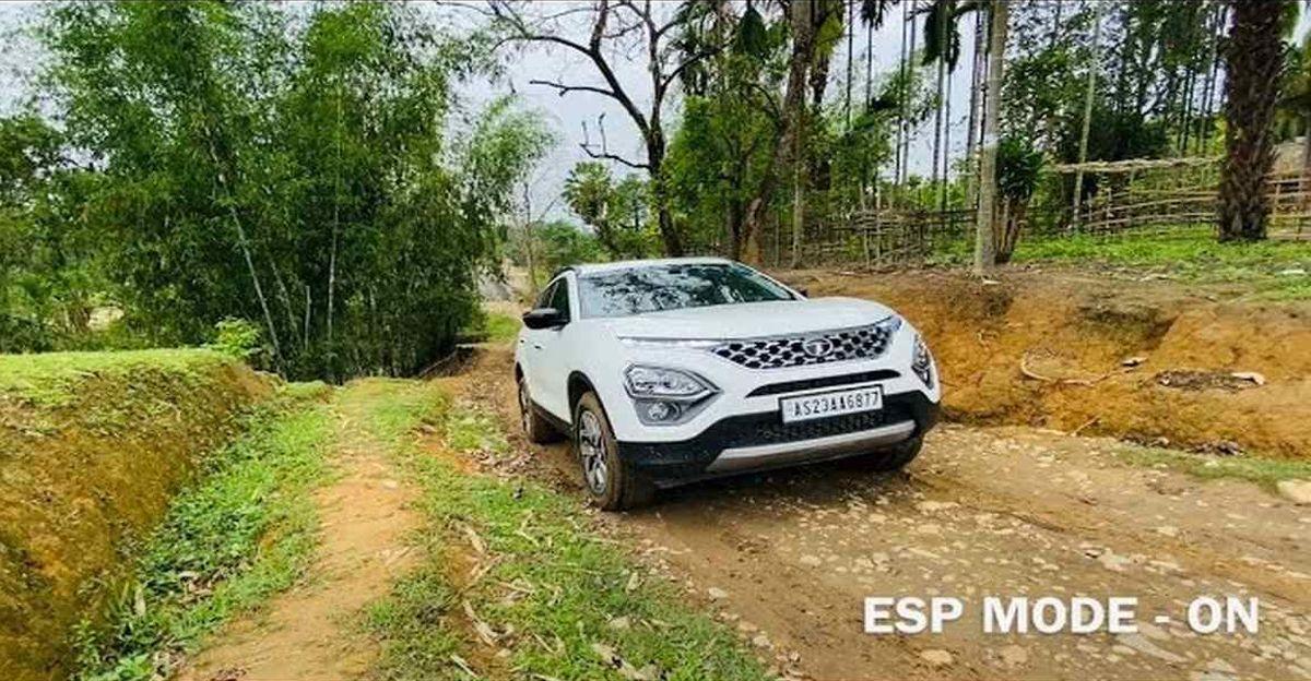 New Tata Safari owner turns off ESP for steep climb