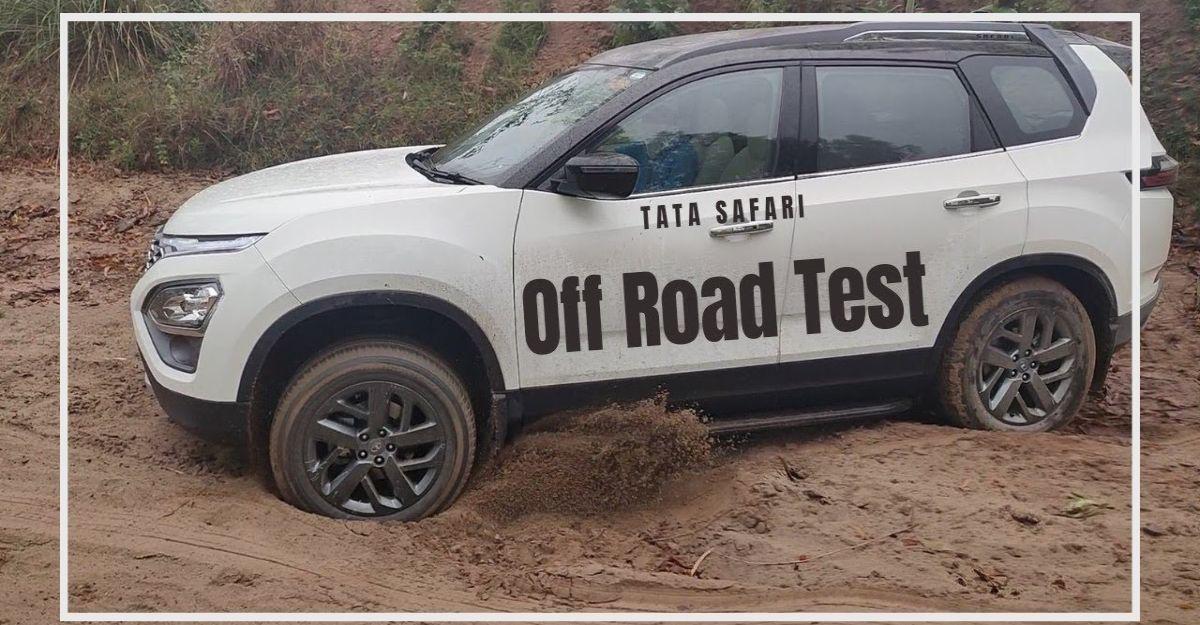 2021 Tata Safari owner takes the SUV off-the-road