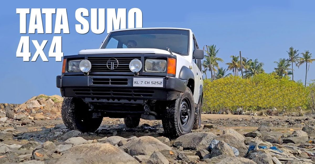 RAREST Tata Sumo 4X4 shown inside-out on video