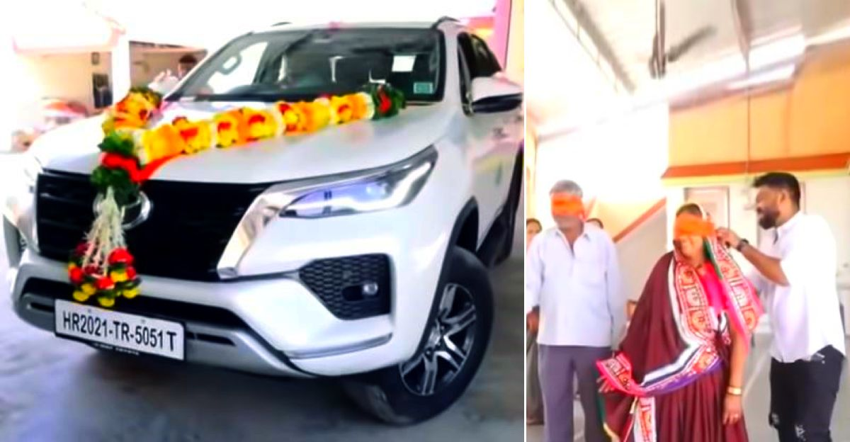 Sons gift parents a brand-new Toyota Fortuner luxury SUV