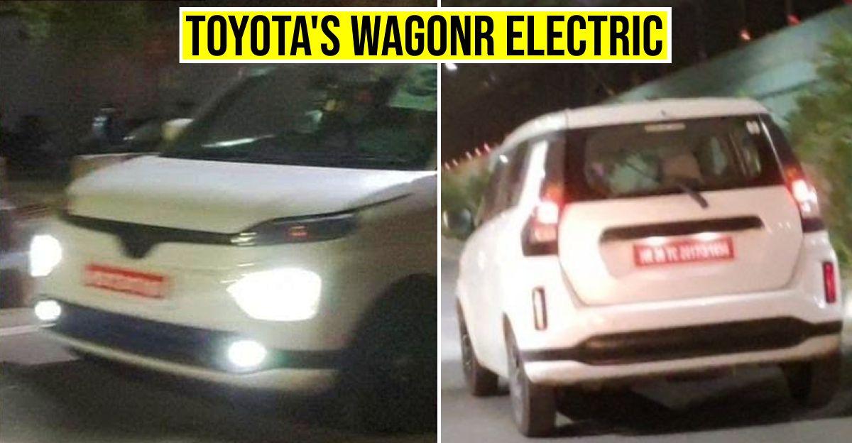Toyota's version of Maruti Suzuki WagonR Electric hatchback spied testing