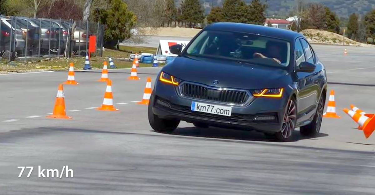 Watch the just-launched 2021 Skoda Octavia in a moose test