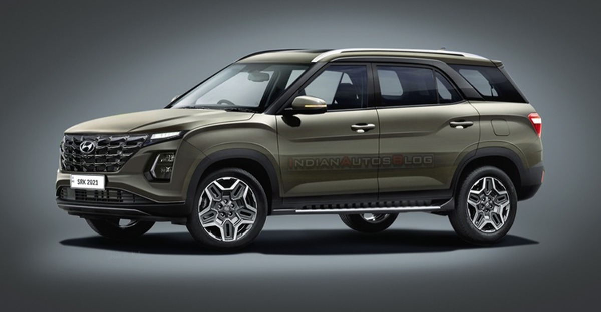 Hyundai Alcazar Facelift inspired by Creta Facelift: What it'll look like