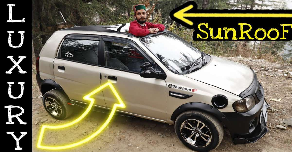 India's first modified Maruti Alto to get an electric sunroof: This is it