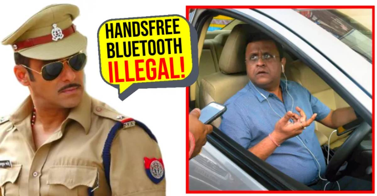 Talking on Bluetooth/Handsfree in car is illegal, say Police