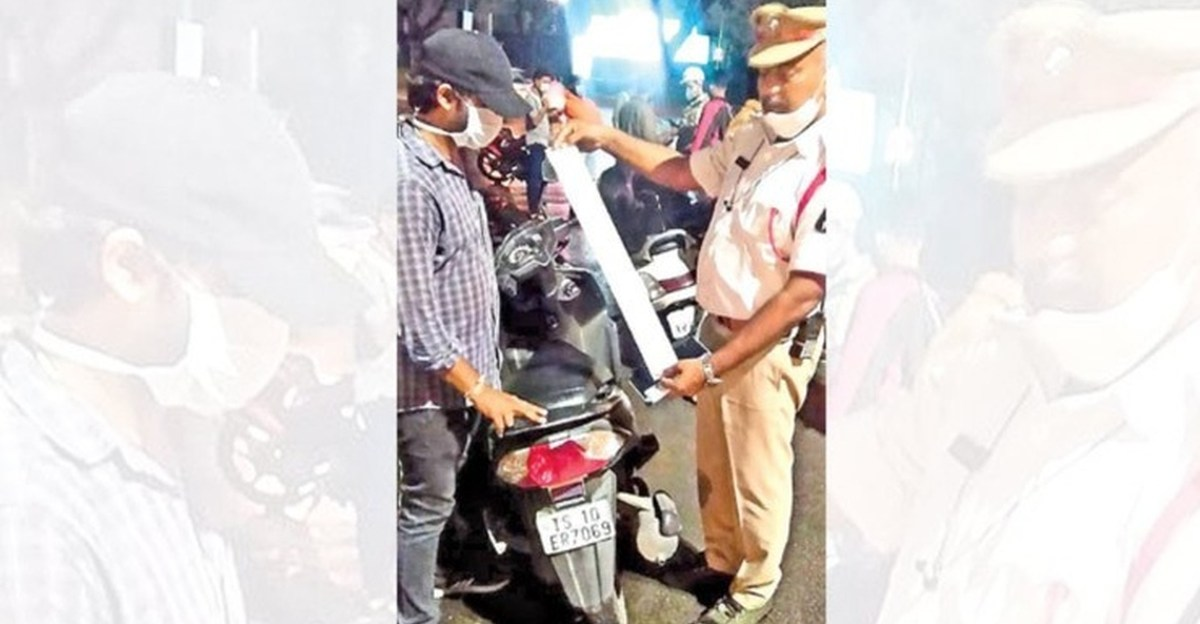 Hyderabad police bust IT professional with 130 pending 2 wheeler challans worth Rs. 35,000