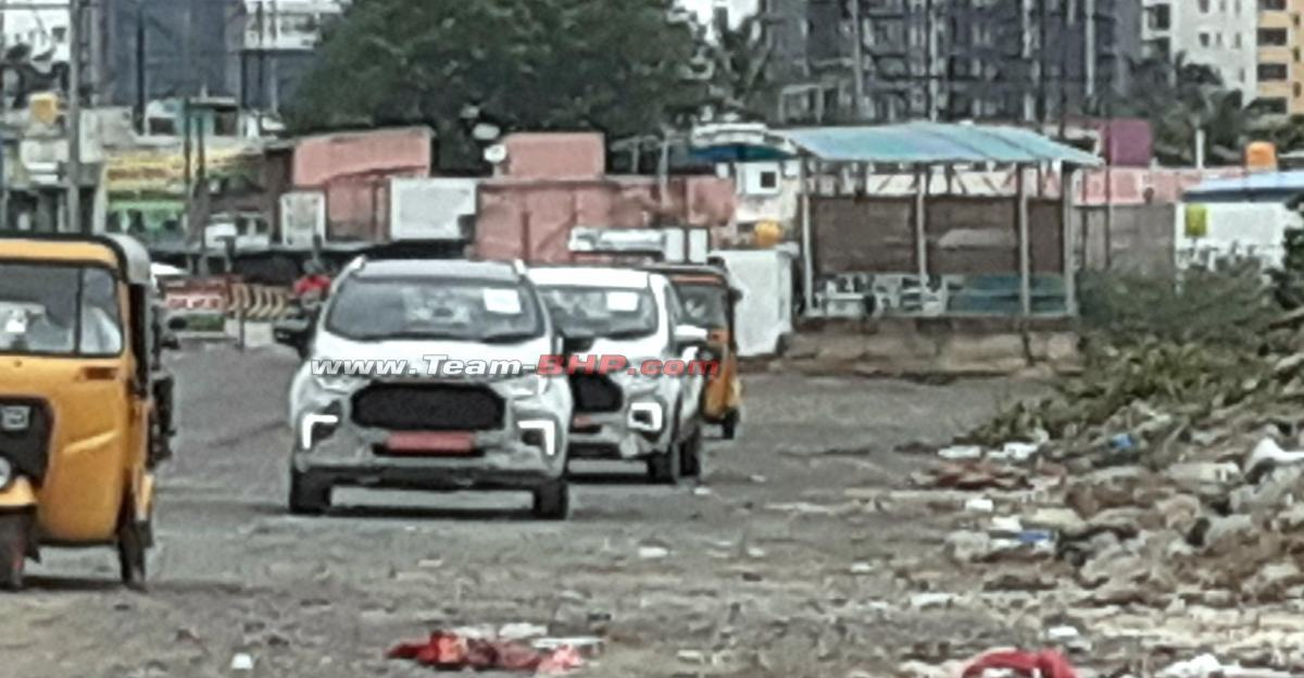 Ford begins testing Ecosport Facelift in India