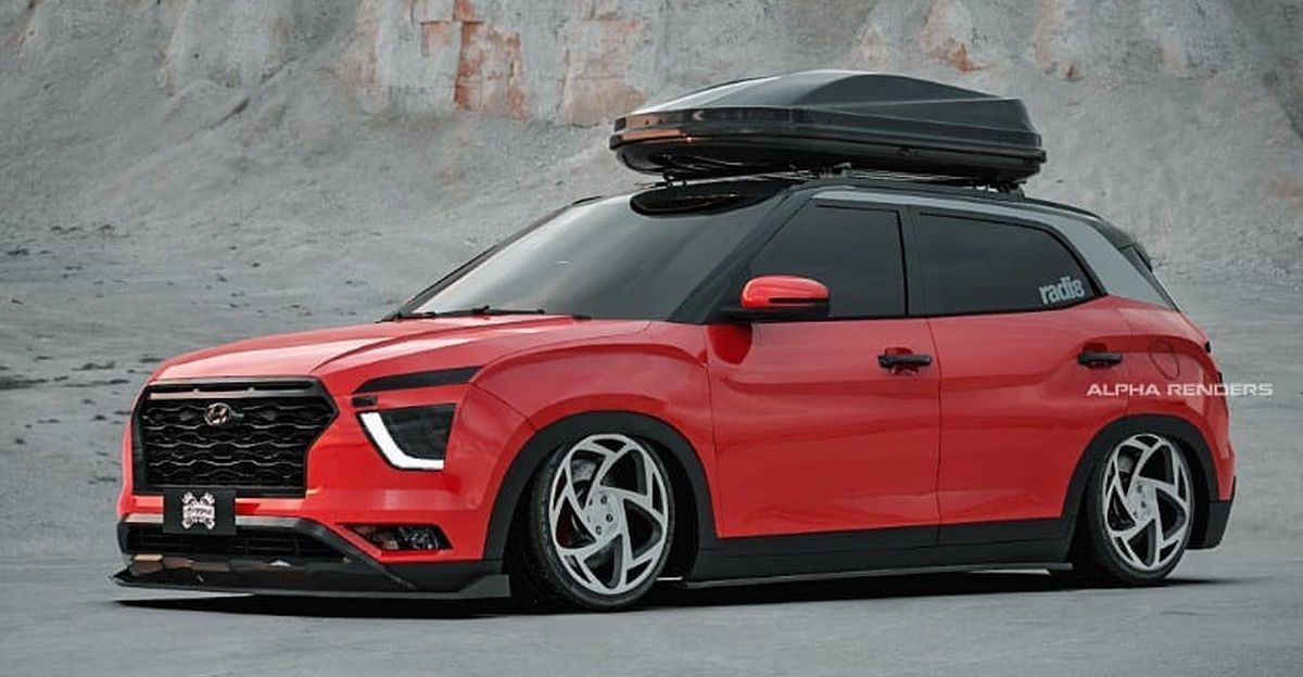 Hyundai Creta re-imagined as a low rider looks wickedly cool