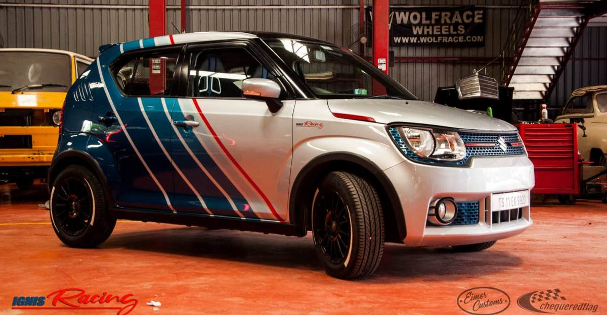 Modified Maruti Ignis with Stage 1 remap looks Stunning