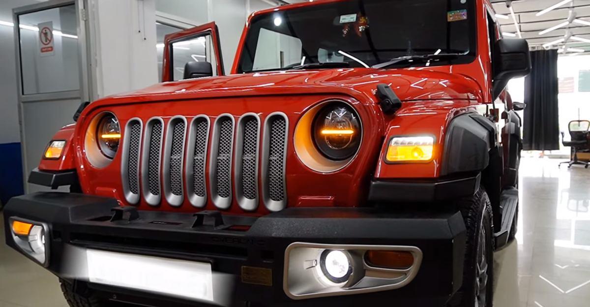 New Mahindra Thar modified to look like the Jeep Wrangler