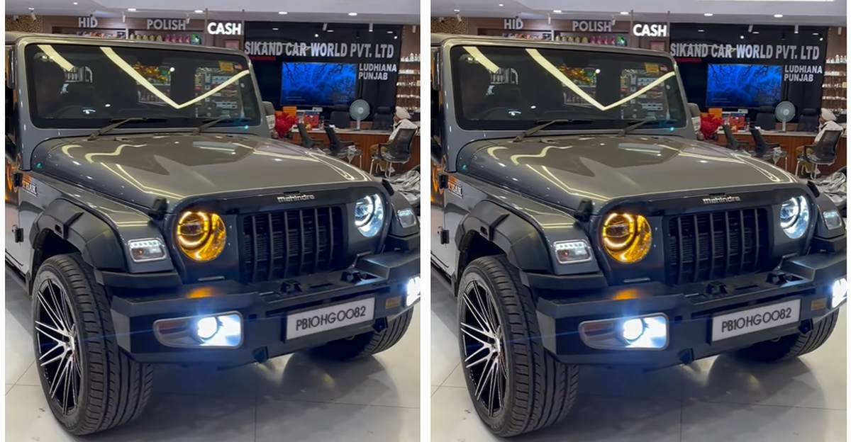 New Mahindra Thar modified with electronic foot step looks cool