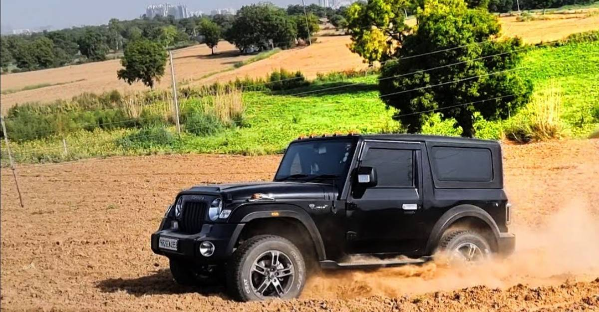 All-new Mahindra Thar shows its capabilities in a ploughed farmland