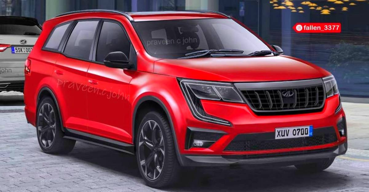 Mahindra XUV700's booster headlamps teased: Launch just weeks away