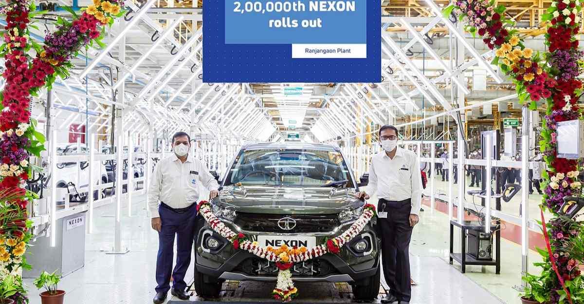 Tata Nexon: 2,00,000th unit rolls out from Tata-Fiat Ranjangaon factory