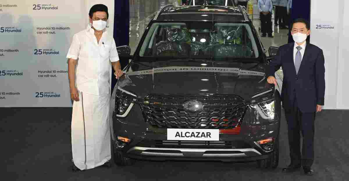 Alcazar becomes 10 millionth car that Hyundai has produced in India