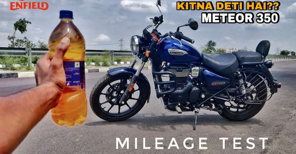 Royal Enfield Meteor 350 in a mileage test